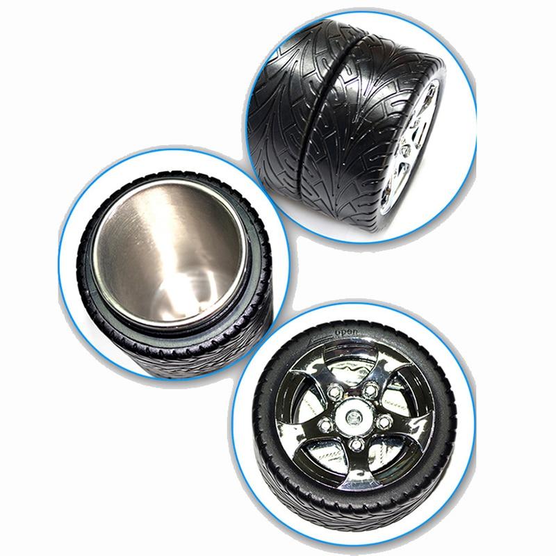 Rubber Coffee Tire Mug Stainless Steel Water Bottle Keep Coffee Warmer on Car P40