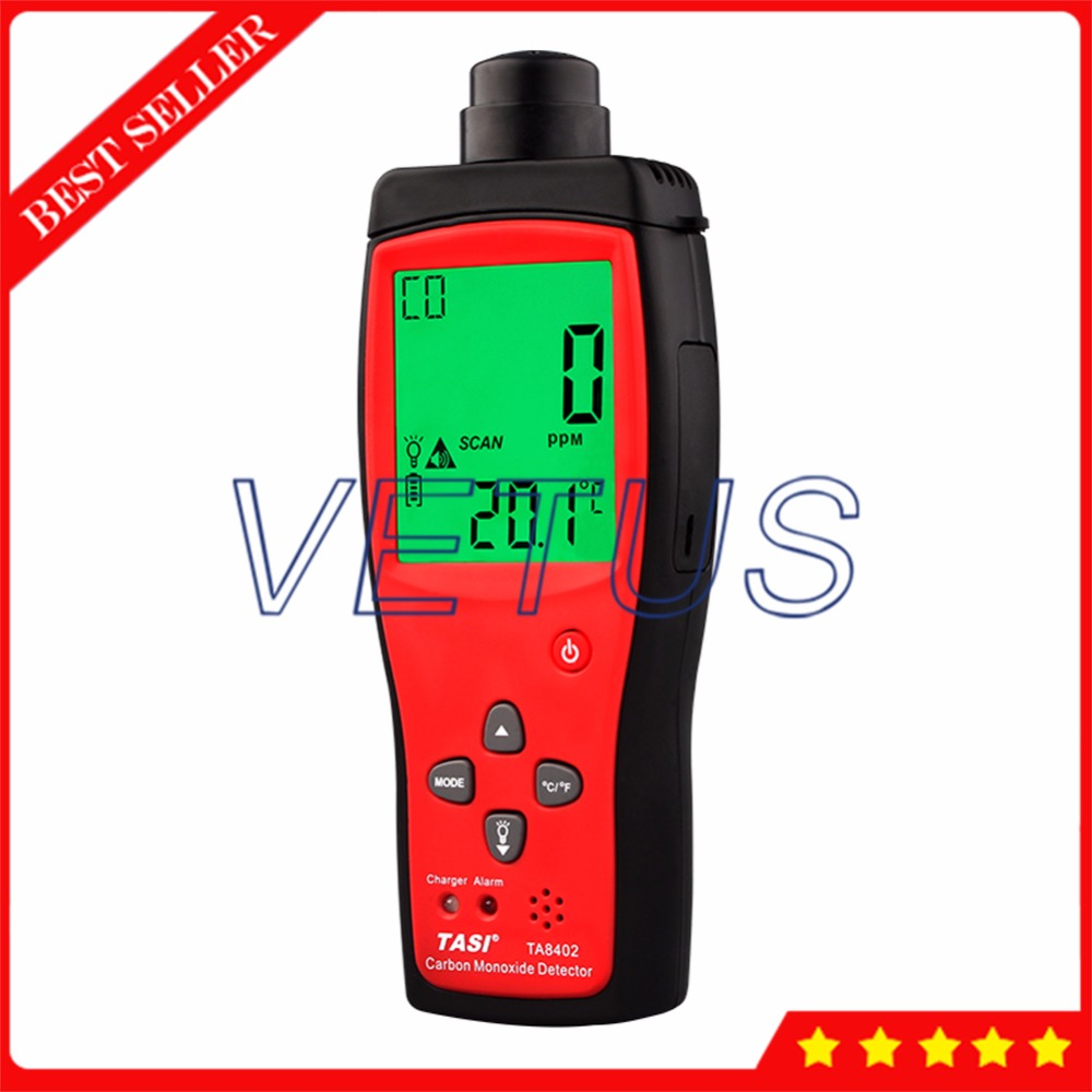 TA8402 Portable Carbon Monoxide Analyzer 1~1000PPM CO Gas Detector with Audible alarm function 3.7V lithium battery