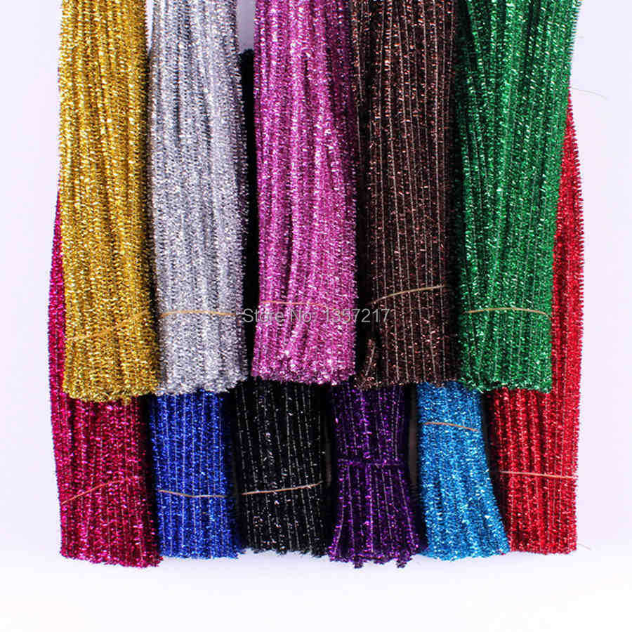 200Pcs Multicolor 6mm Glitter Plush Wire Flexible Flocking