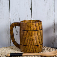 New Design Manual Rubber Wood Coffee Cups Wooden Eco Friendly Milk Cups Convenient Health for Boday Tea Cups