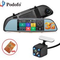 Podofo Car DVR 3G Touch Mirror Camera 5 Dash Cam Full HD 1080P Video Recorder Camera