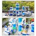 Kits de edificio modelo compatible con lego city police station 3d modelo de construcción bloques educativos juguetes y pasatiempos para niños