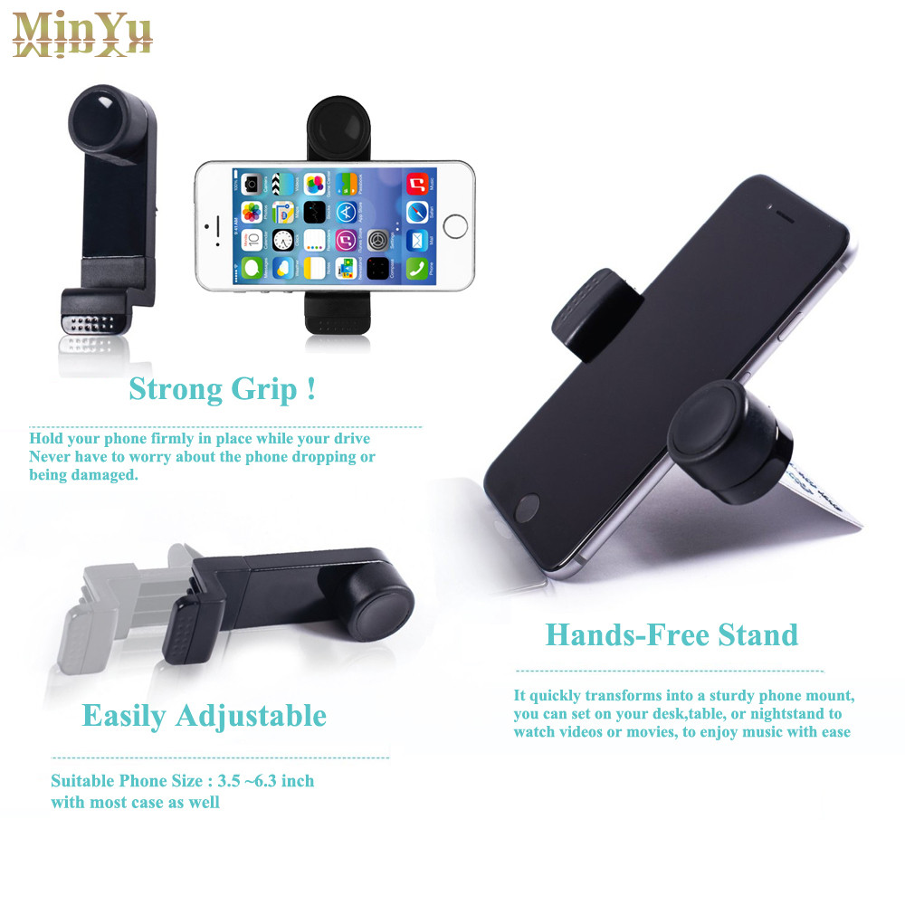 360 rotation elastic car air vent mount bracket holder for google