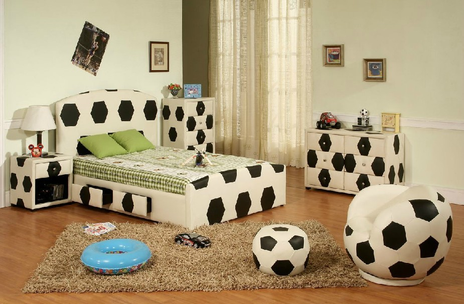 Online Shop Shipping By Sea Children Furniture Suite ,children Bedroom Sets  ,boys Bed,bookcase, Bedstand, Wardrobe With Football Theme | Aliexpress  Mobile