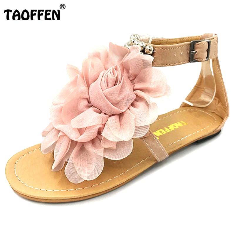 Taoffen Big Size 34 43 Gladiator Sandals Women Bohemia -2716