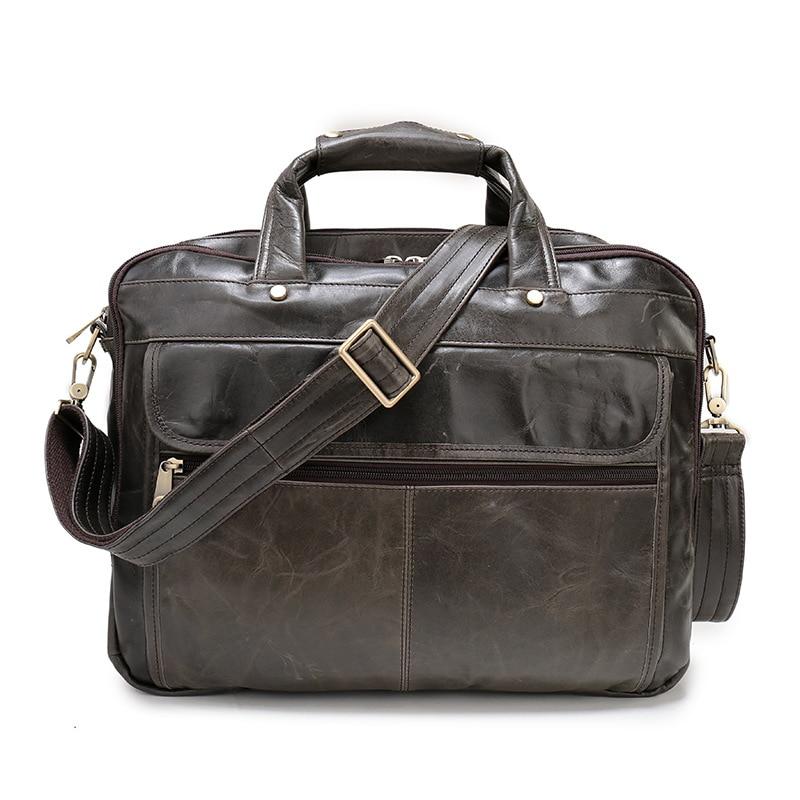 2017New Genuine Leather Men's Satchel Bags For Men Shoulder Bag Briefcase Portfolio 13 Laptop Bag hand travel doucment bags Sac цена и фото