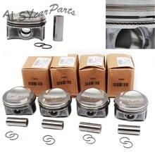 YIMIAOMO OEM 06H 107 065 CP zmodyfikowany pierścień tłokowy i tłokowy zestaw do VW Passat Golf MK6 Audi 1.8TFSI 06H198151C Pin 21mm