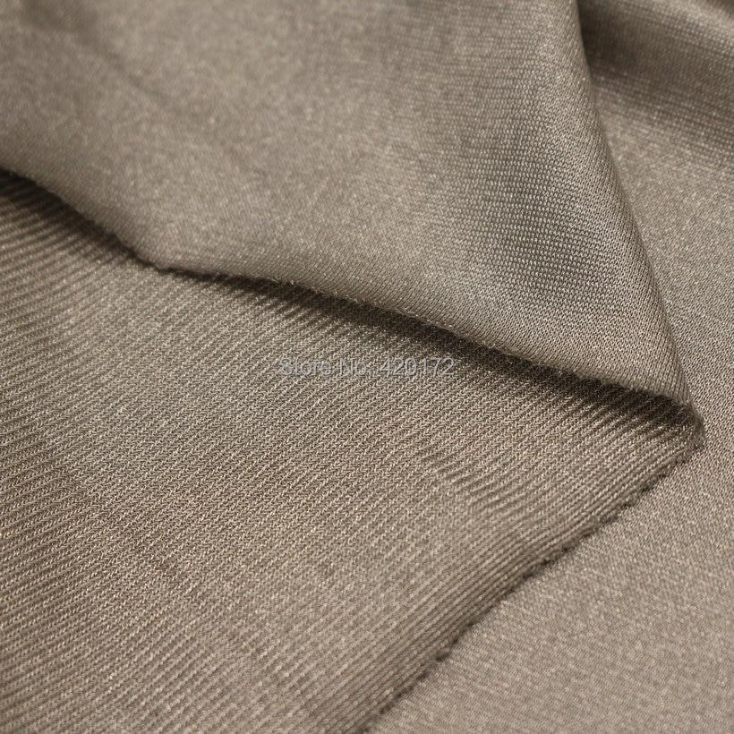 100% Silver Fiber Fabric Anti-Strålning Silvery Leaves - Konst, hantverk och sömnad