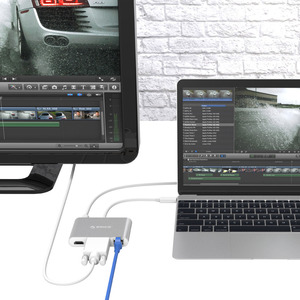 Image 2 - ORICO USB3.1 Type C HUB Splitter to HDMI RJ45 VGA USB3.0 Type A Adapter Dock Support 60W PD Charging for MacBook Pro USB C HUB