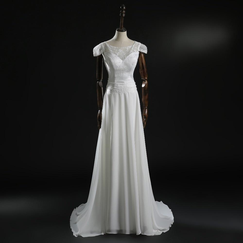 New Vestido De Noiva Romantic Lace Wedding Dresses With