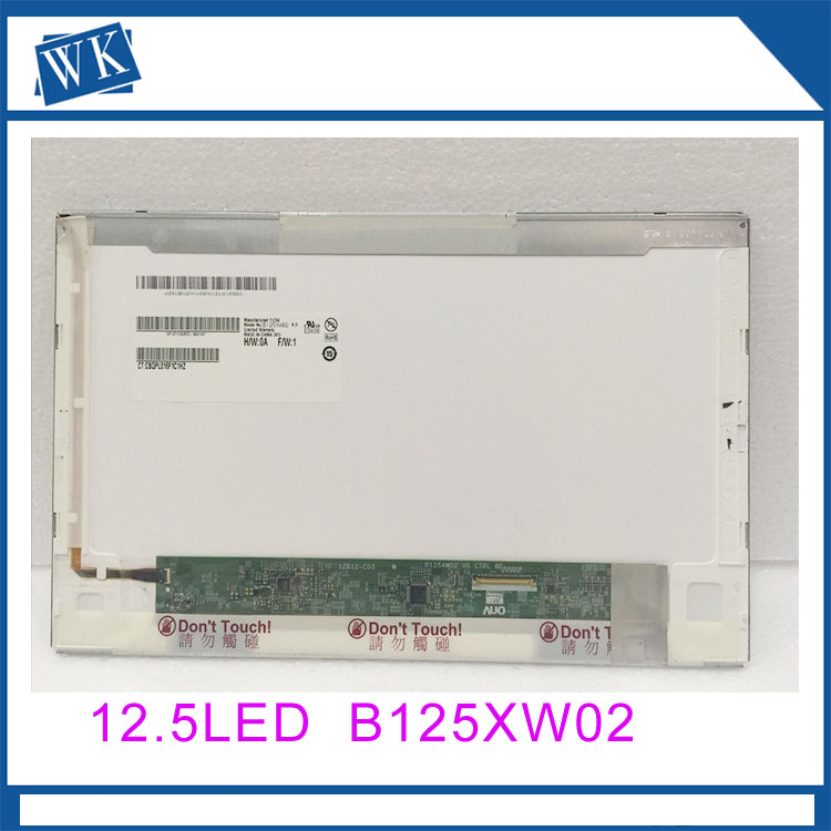 free shipping LTN125AT02 B125XW02 V.0 B125XW02 V0 LP125WH1 For HP 2560p 2570p laptop lcd screen display 1366*768 12.5 inch free shipping originalnew 7 inch lcd screen cable number sl007dc185fpc v0