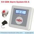 SOS Chamada de Alarme GSM 850/900/1800/1900 Mhz Sistema de Segurança Alarme Casa Grande Botão SOS Pessoais para Atendimento Aos Idosos Chamada De Emergência SMS K4A