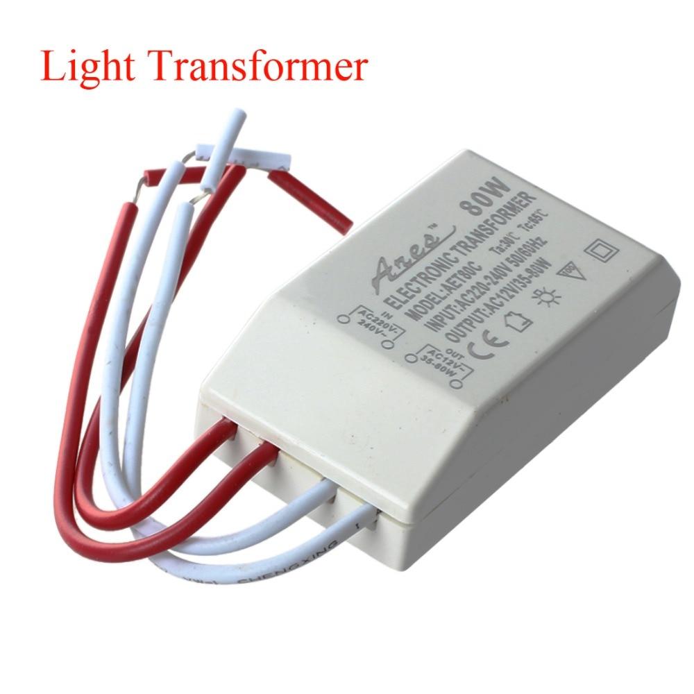 Us 2 77 27 Off Ac 12v Smd Halogen Light Transformer Supply Driver 80w For Mr16 Mr11 Lighting Transformers Led In