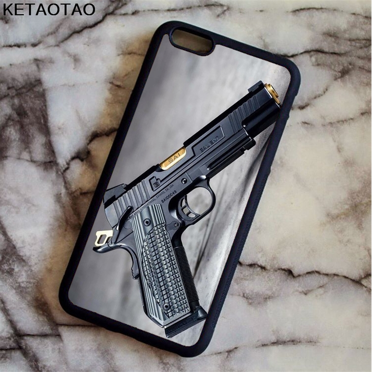 KETAOTAO Hot Sale Weapons GUN fashion Phone Cases for iPhone 4S 5S 6 6S 7 8 X PLUS for Samsung S8 Case Soft TPU Rubber Silicone
