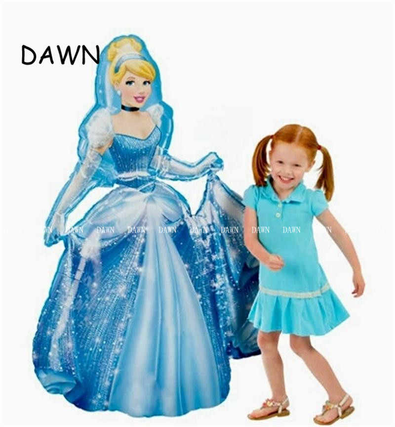 92*55cm Large Belle Aurora Cinderella Snow White Elsa Mermaid Princess Foil Balloons  Baby Birthday Party Decoration Balloons