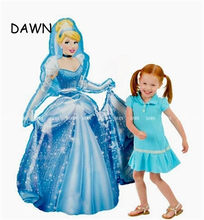 92*55cm Large Belle Aurora Cinderella Snow White Elsa Mermaid Princess Foil Balloons Baby Birthday Party Decoration Balloons(China)