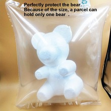 1pc 20cm Foam Bear Modelling Balls White Craft Flower Valentines day DIY Gifts Reinforced Packaging