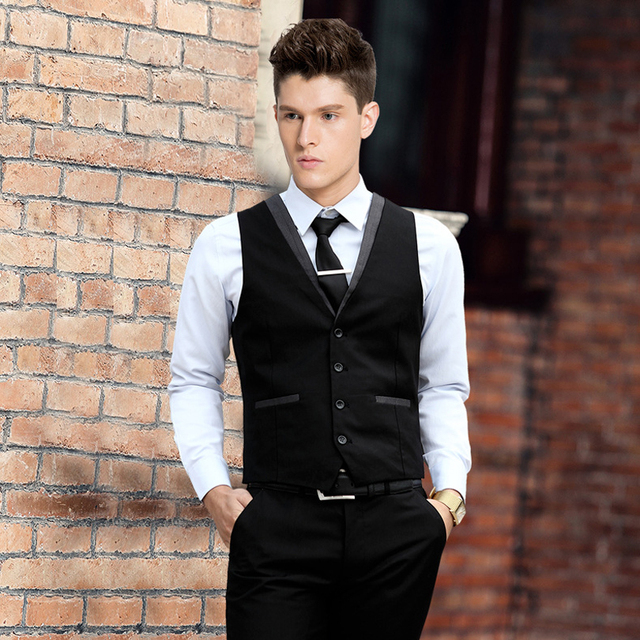 Aliexpress.com : Buy HOT Mens V Neck Light Grey Side Vests and ...