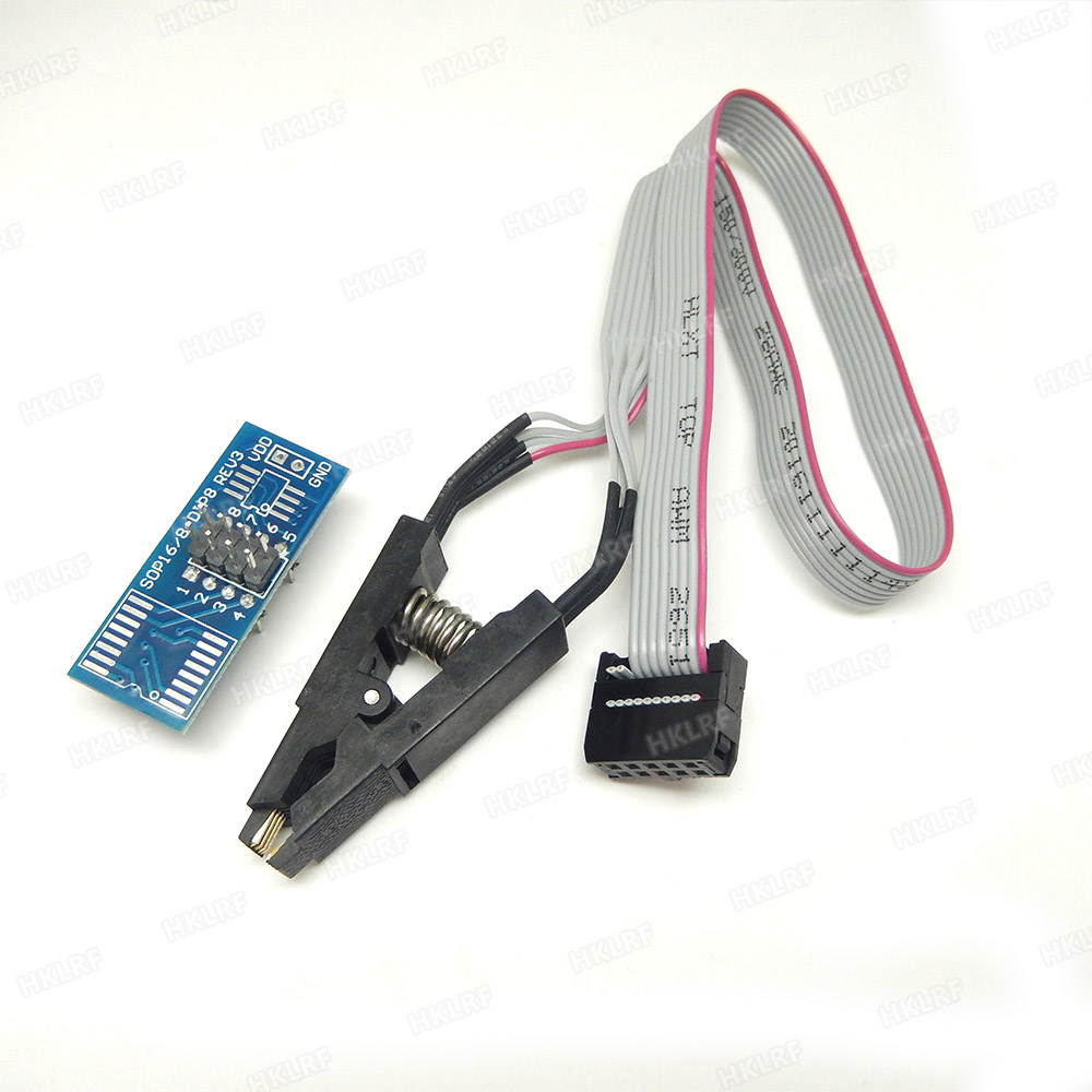 SOIC 8 sop8 IC Test Clip Programmer Adapter Board Cable EEPROM BIOS tl866