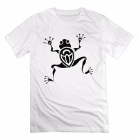 Men T Shirt New 2017 Cotton Simple Print Pattern Casual Frog Tattoo Plus Size Fashion Design Brand Clothing Male T-shirt