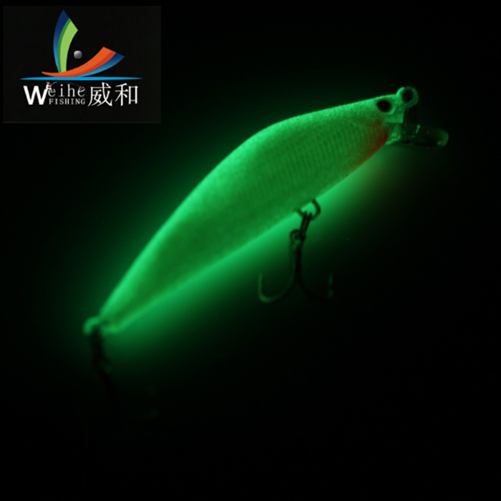 1 Pcs 9cm/8.1g Artificial Hard Bait Mino Bait Fluorescence Green For Tool Accessories Baits Wobblers Fishing Night For Fishing