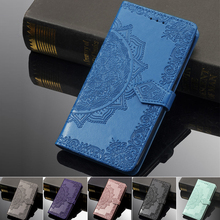 For Oneplus 7 Pro Case 3D Mandala Flower Emboss PU leather Wallet Flip Case For Oneplus7 one plus 7 Pro Cover Phone Case Coque