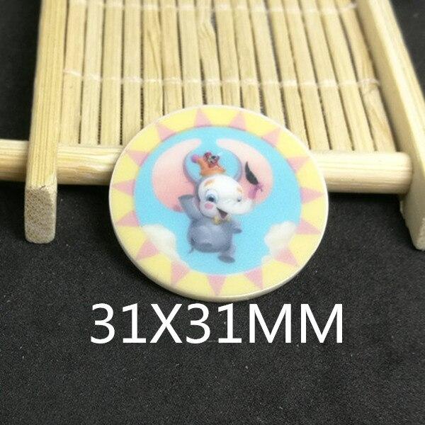 Free shipping 31X31MM 10pcslot new cartoon planar resin