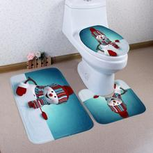 snowman bathroom sets. 3PCS a set Home Christmas Santa Snowman Toilet Foot Pad Mat Seat Cover  Radiator Cap Bathroom Buy christmas bathroom accessories and get free shipping on