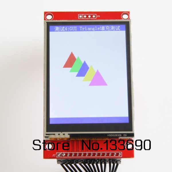 2 8 inch TFT LCD Module with Touch Panel ILI9341 Drive IC 240(RGB)*320 SPI  Interface (9 IO) 240*320 Touch ic XPT2046 spi port