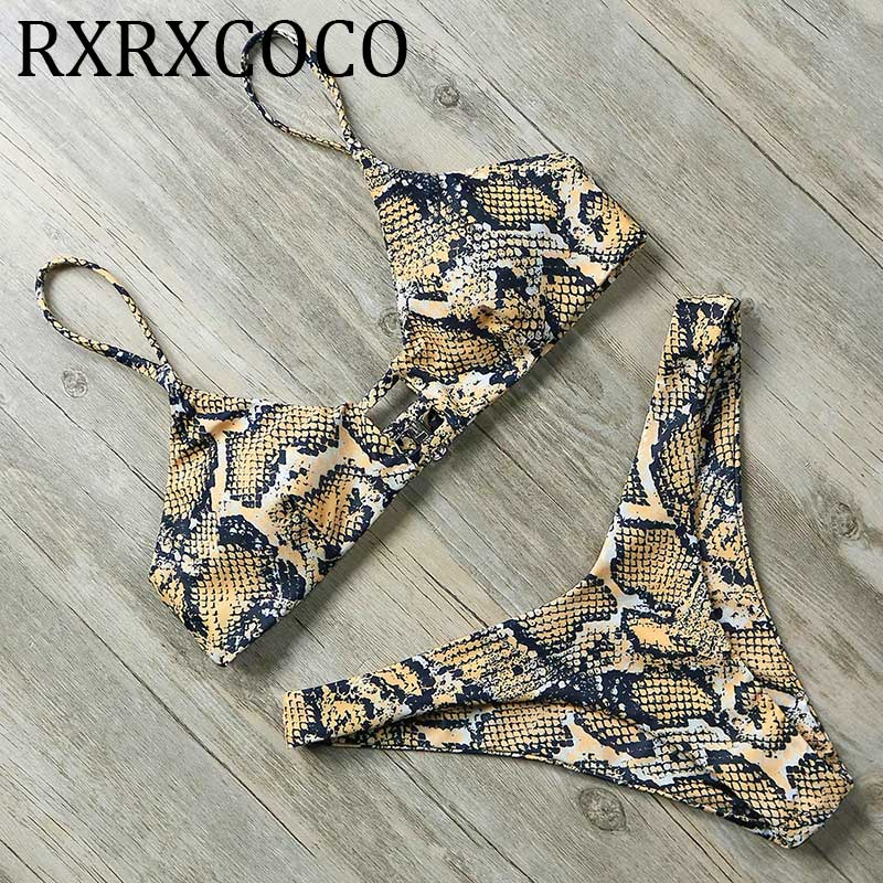 522df376166 Vente Nouveau Sexy Bikini Set Brésilien haute cut Bikini Push Up Maillots  de Bain Femmes 2019 Bandage maillot de bain Halter leopard maillot de bain  Pas ...