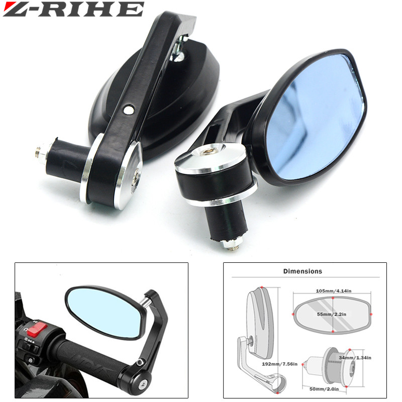 Universal 7 8 Quot Quot 22mm Handle Bar Motorcycle Bar End Mirror