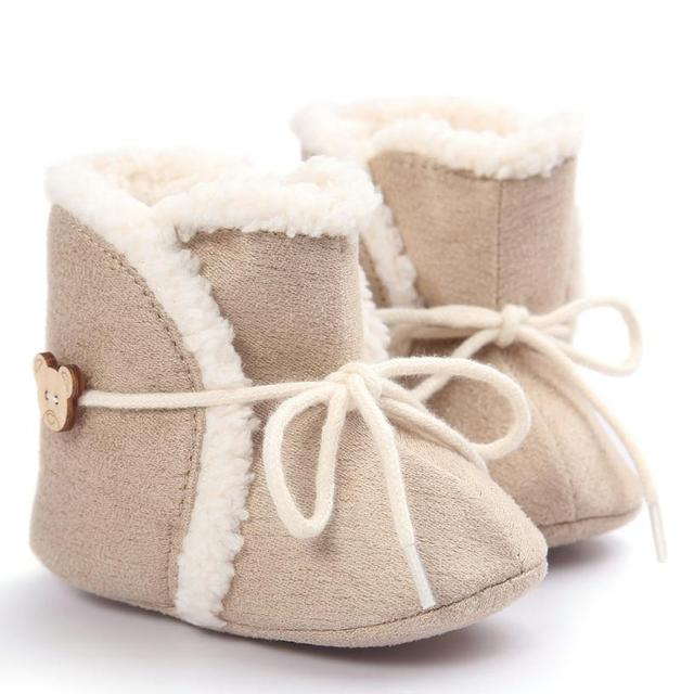 Baby Boots 2017 Fashion Baby Soft Sole Snow Boots Soft Crib Shoes Toddler Boots  D50