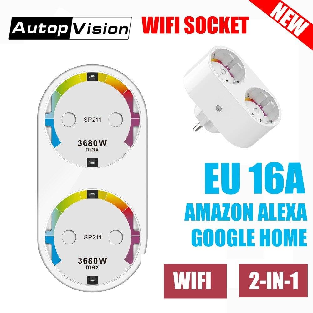 SP211 Smart Plug WIFI 16A EU Plug Socket for Smart Home , Support Alexa, Smart Plug for Table Lamp Night Light Kitchen стоимость