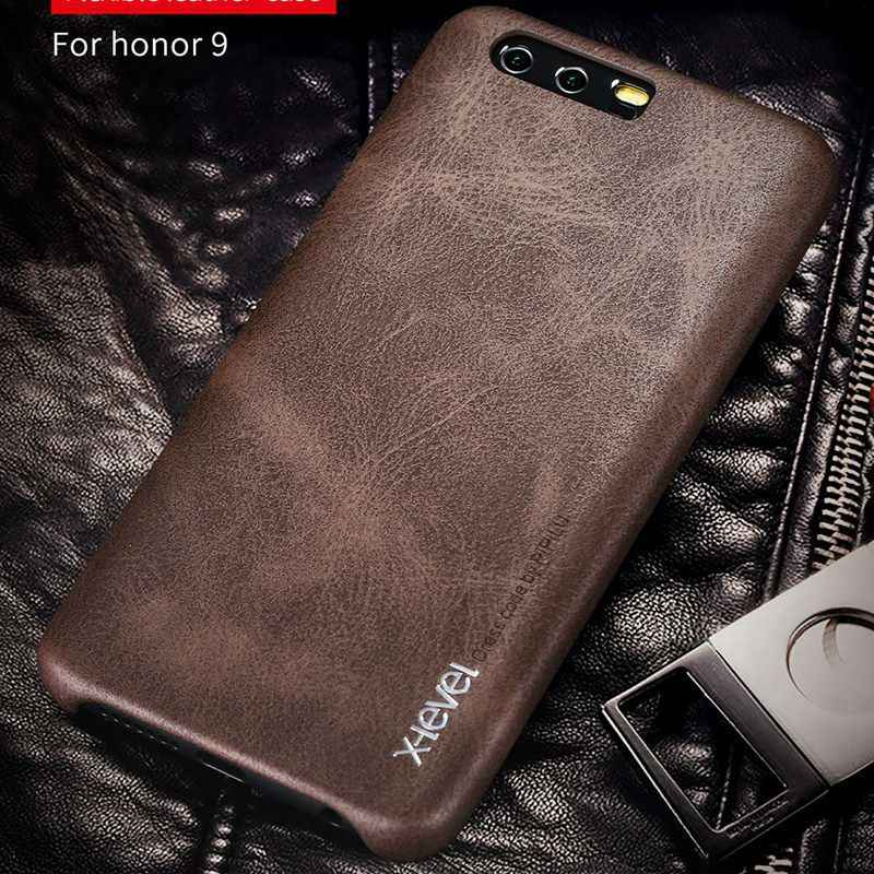 X-Level For Huawei P10 P9 Plus/Lite Mate 9 Pro Luxury Leather Phone Case For Huawei Honor 9 8 Lite V9 Hard Cover Honor9 STF L09