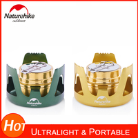 Naturehike Mini Alcohol Stove With Carry Bag Lightweight Brass Spirit Burner With Aluminium Stand For Camping Picnic Backpacking