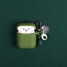 Handmade Fashion Cartoon Avocado Keychain Key Ring Creative AirPods Holder Bag Pendant For Women