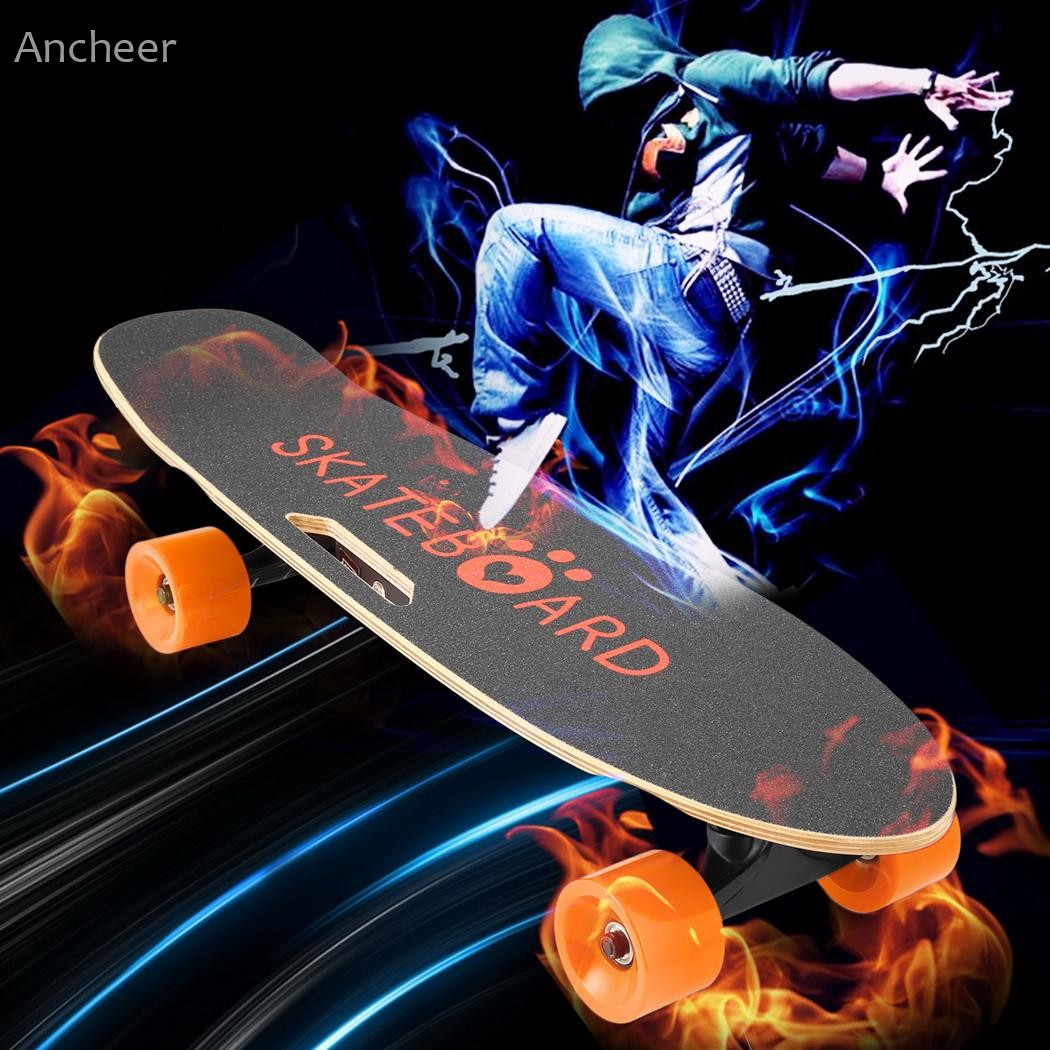 Ancheer Electric Skateboard Penny Board with Bluetooth Speaker Front Light Remote Controller E Skateboard