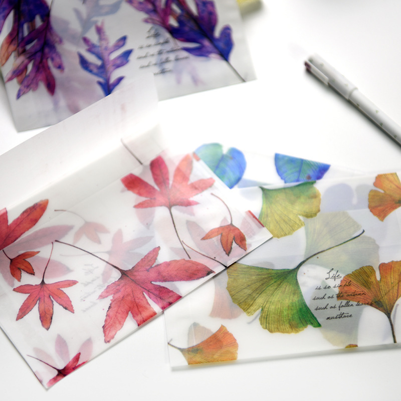 8 Pcs/lot Song Of Fallen Leaves Paper Envelopes Dull Polish Translucent Message Greeting Card Letter Envelope Storage Gifts