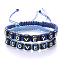 Handmade Best Lovers' Gift Weave Rope String Bravelet Special Letters Bracelet Pretty Jewelry Gift For Couples