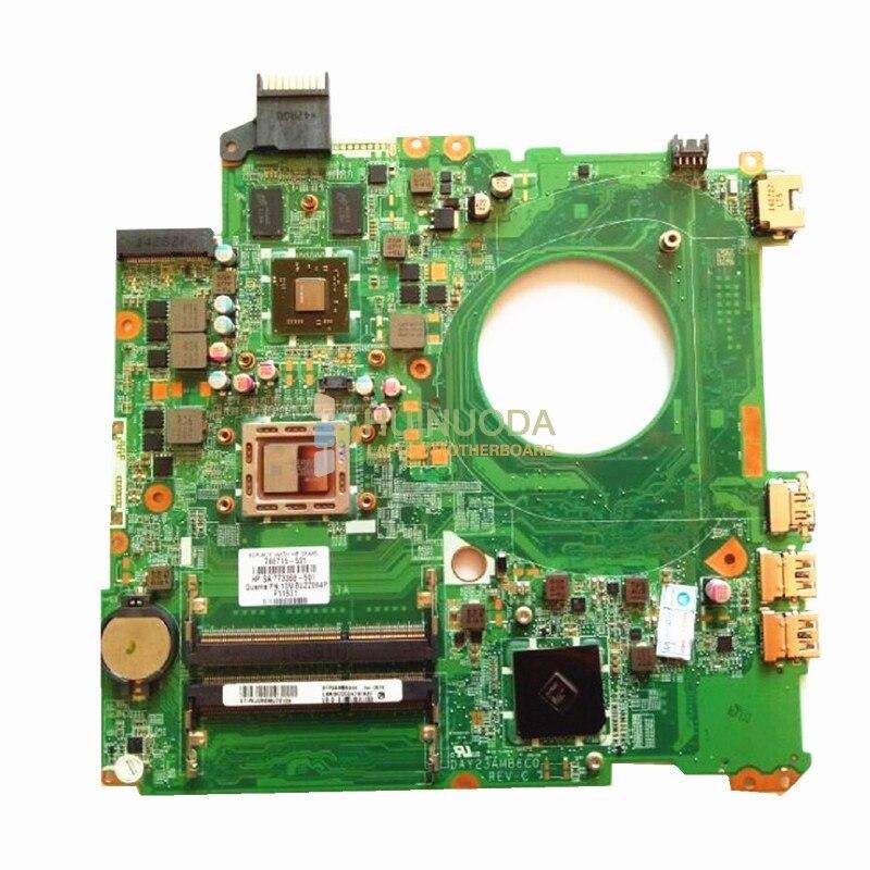 NOKOTION mère d'ordinateur portable Pour HP Pavilion 15-P 766715-501 carte mère DAY23AMB6C0 REV: C A10-5745M