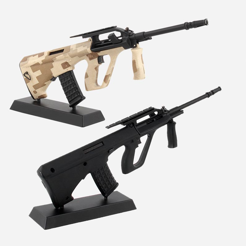 1:3 Alloy AUG Assault Rifle Metal Removable Gun Model Can Not Shoot Boy Gift Collection And Decoration