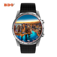 BDO MTK6580 KW99 Relógio Inteligente Android 5.1 Telefone De Pulso CPU 512 mb + 8 gb Apoio cartão SIM GPS WiFi smartwatch Para Android IOS