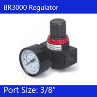 Free Shipping BR3000 Pressure Regulator 3/8
