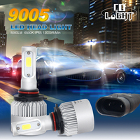 CO LIGHT LED Headlight 72W S2 9005 COB 16000LM IP65 Car Styling Cree Chips LED Headlights