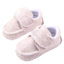 Fall Toddler Baby Natural Linen Crib Shoes Kid Boy Girls Anti-Slip Loafers Shoes Xt8