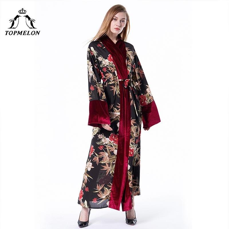Singapore Women Fashion: TOPMELON Velvet Islamic Clothing Turkish Dubai Arab