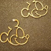 CHENGXUN милые Полые Мультяшные серьги-кольца с Микки Маусом для женщин и девочек, очаровательные серьги с животными, модные ювелирные изделия, летние аксессуары, подарок