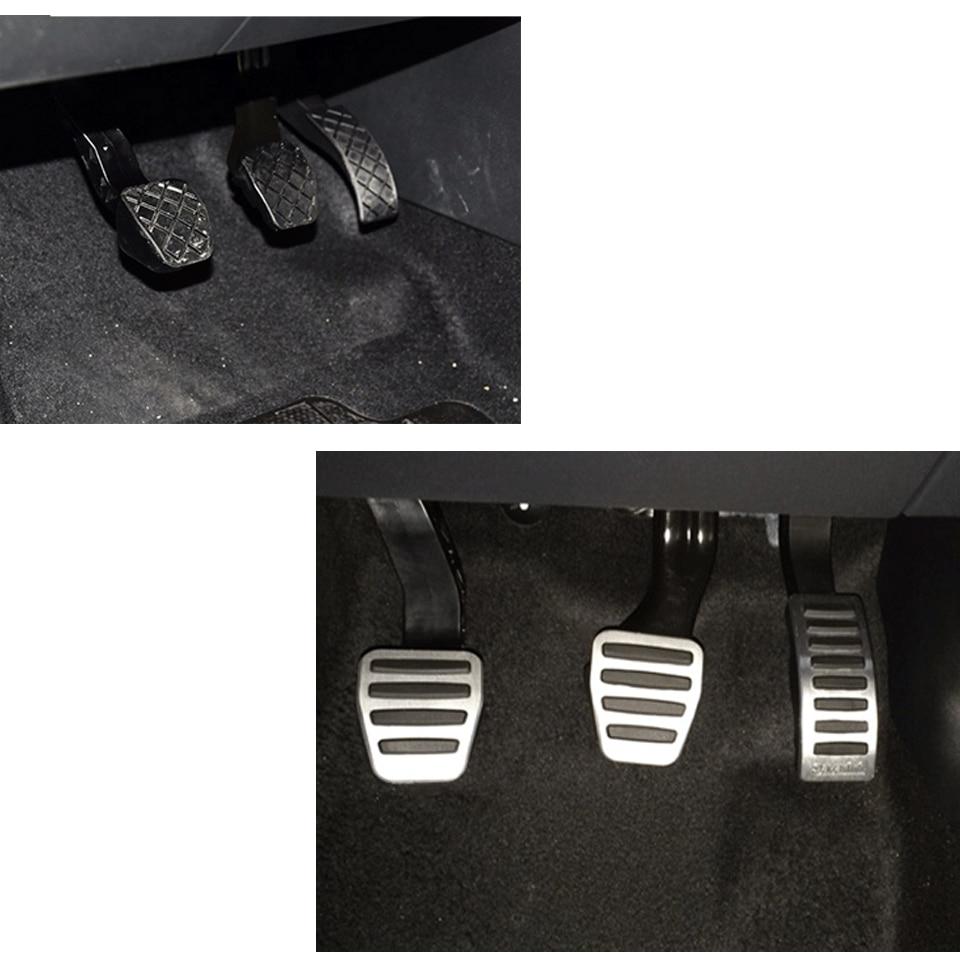 Savanini подножка сцепления педаль тормоза и газа Pad комплект для VW Polo/Lamando/Bora/Jetta/Audi A1 AT/MT. Алюминий на нескользящей подошве