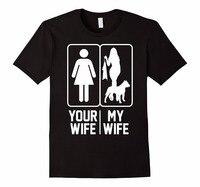 Baskılı T Gömlek Pure Cotton Ekip Boyun Kısa Kollu Ofis Sizin eşi Için Eşim Aşk Pit Bull Aşk Sevgililer Günü Tee erkekler