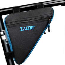 Cycling Bicycle Bags Front Tube Frame Bag Waterproof Triangle Mountain Bike Triangle Pouch Frame Holder Saddle Bag New 2 cheap Zacro ZSW0029 Nylon With Lid The product with zacro logo